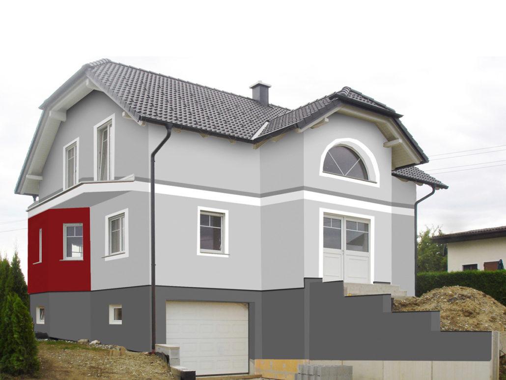 Fassadengestaltung Design Und Farbe Mit Vorabvisualisierung