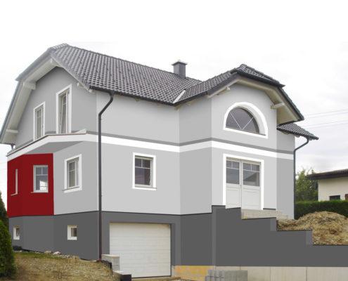 Fassadengestaltung design und farbe mit vorabvisualisierung for Hausfassade braun