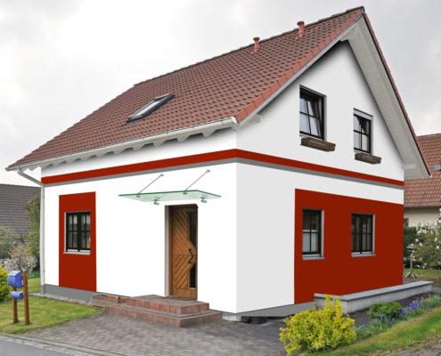 Rote Dachziegel Welche Fassadenfarbe Wohn Design