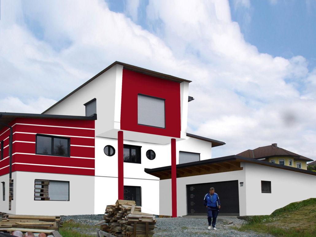 Fassadenfarbe grau modern  Fassadenfarbe Grau Modern ~ Kreative Bilder für zu Hause Design ...