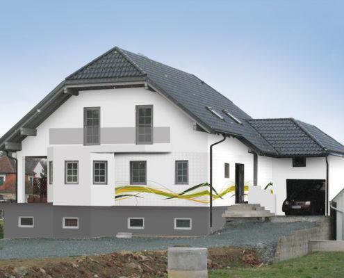 Fassadengestaltung bungalow  Fassadengestaltung. Design und Farbe mit Vorabvisualisierung