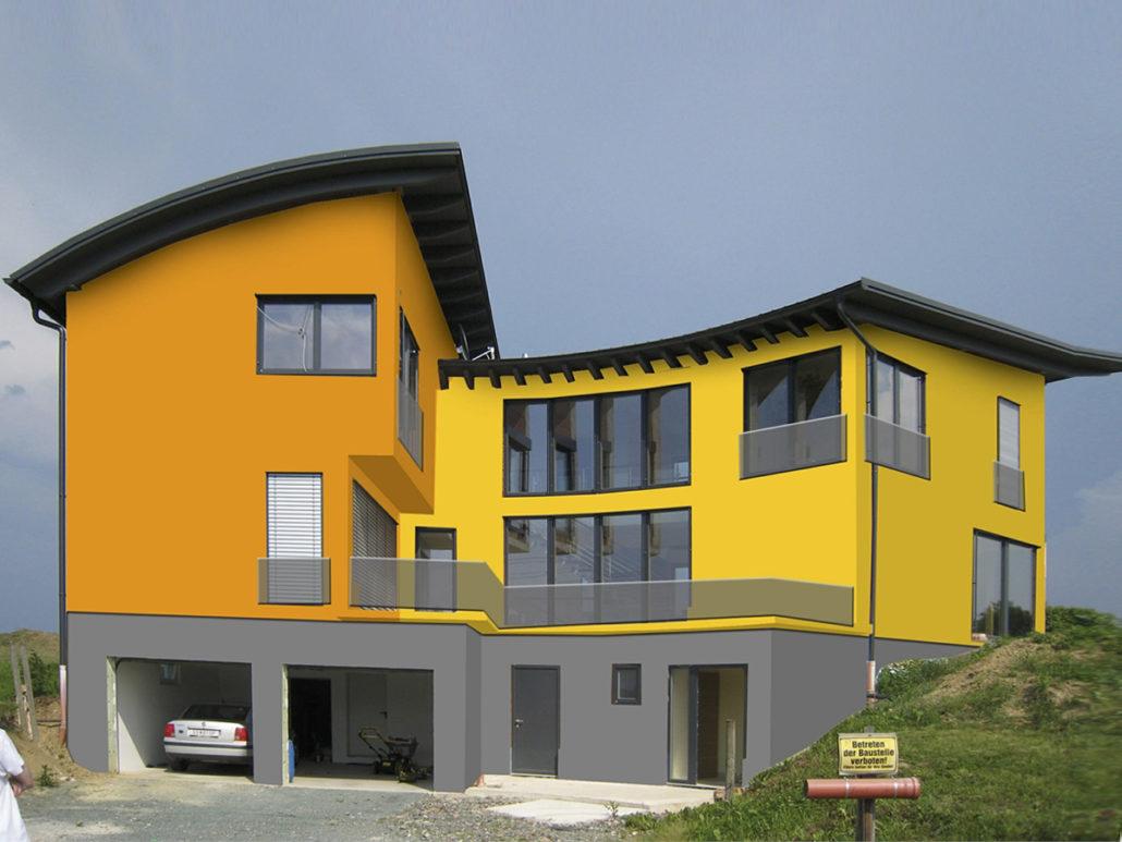 Schön Hausfassade Modern Beste Wahl Klassisch
