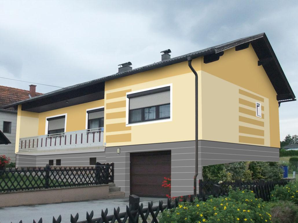 Wunderschön Welche Fassadenfarbe Passt Zu Braunen Fenstern Beste Wahl Gewerbe