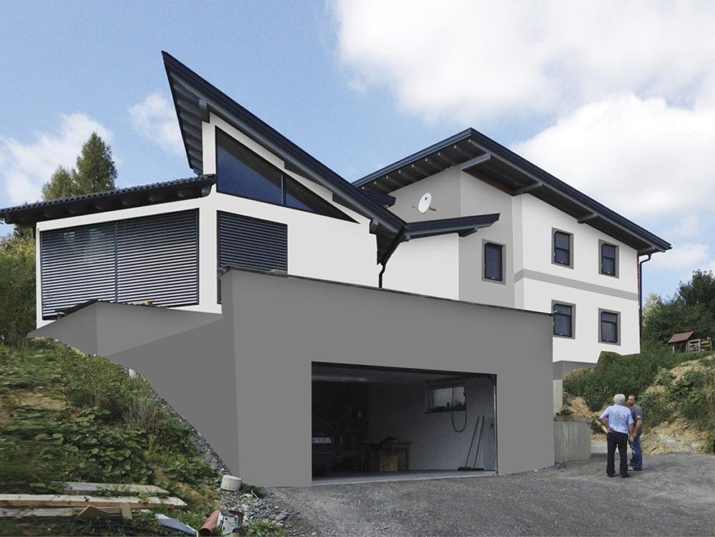 Fassadengestaltung einfamilienhaus modern for Einfamilienhaus klassisch