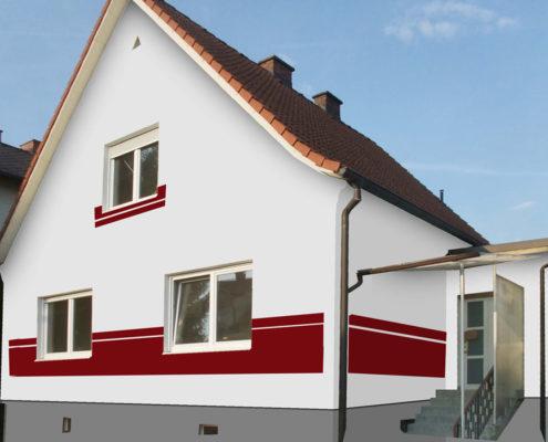 fassadengestaltung farbe beispiele. Black Bedroom Furniture Sets. Home Design Ideas