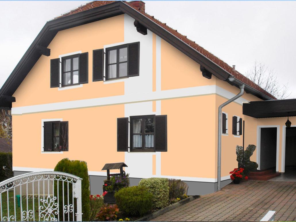 Brilliant Welche Fassadenfarbe Passt Zu Braunen Fenstern Sammlung Von Gewerbe